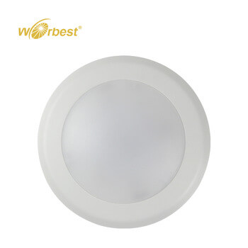 6inch 15W 120V CRI90 Dimmable LED Disk Down Light Surface Mounted For Damp Location