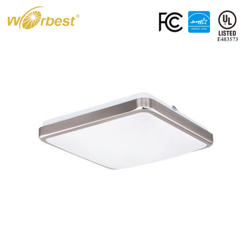 Worbest Lighting 15W 25W Square LED Flush Mount Ceiling Light-JBF